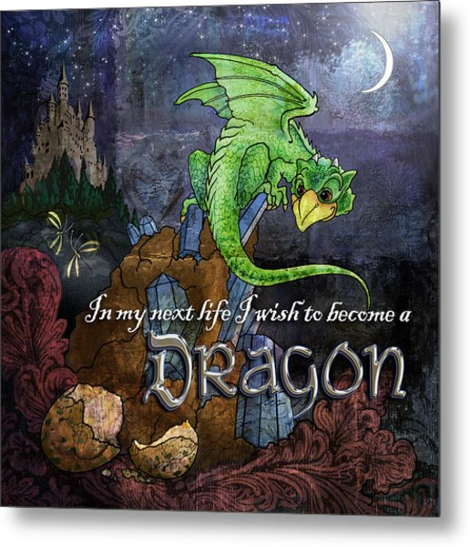 Baby Dragon Metal Print by Evie Cook