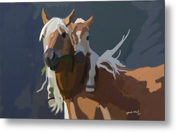 Baby Horse Metal Print by Nydia Williams