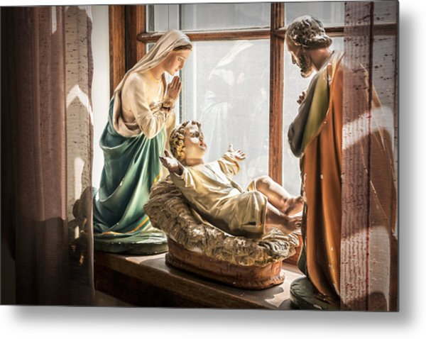 Baby Jesus Welcoming A New Day Metal Print
