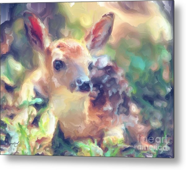 Baby Of The Wild Metal Print