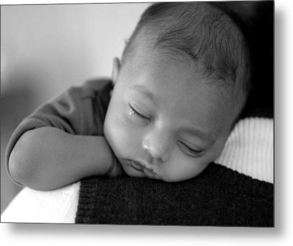 Baby Sleeps Metal Print