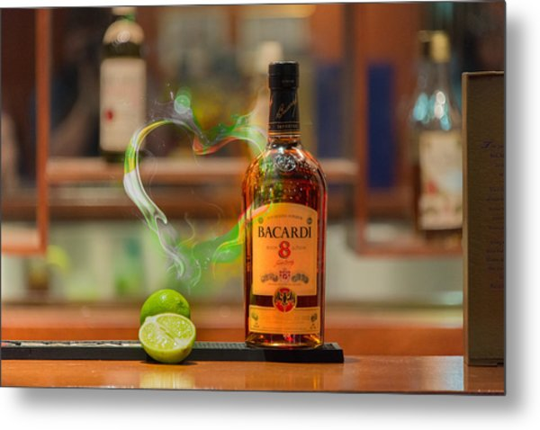 Bacardi And Lime In Love Metal Print