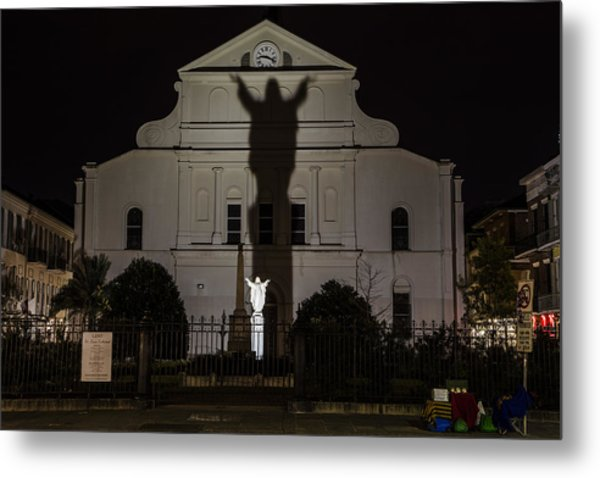 Back Of St Louis Cathedral In New Orleans Metal Print