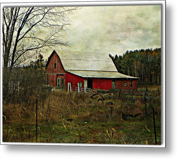 Back Road Barns  Metal Print by Dianne  Lacourciere