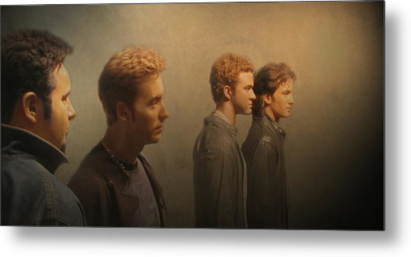 Back Stage With Nsync Metal Print
