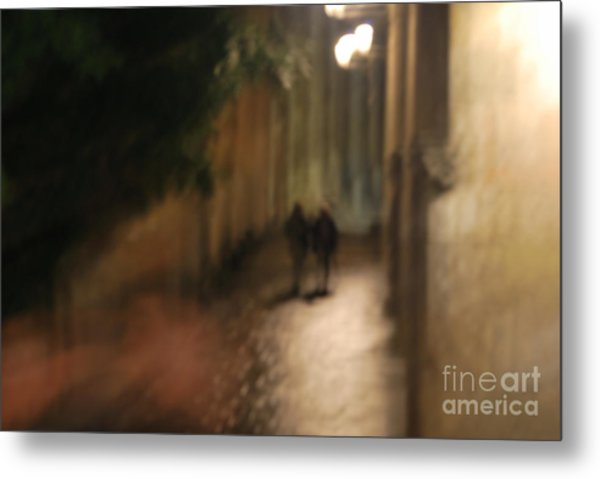 Back Street Of Barcelona Cathedral Metal Print