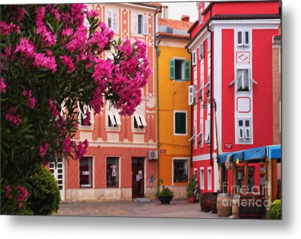 Back Streets Of Izola Slovenia Metal Print