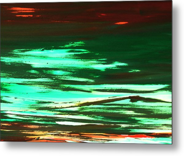 Back To Canvas The Landscape Of The Acid People Metal Print