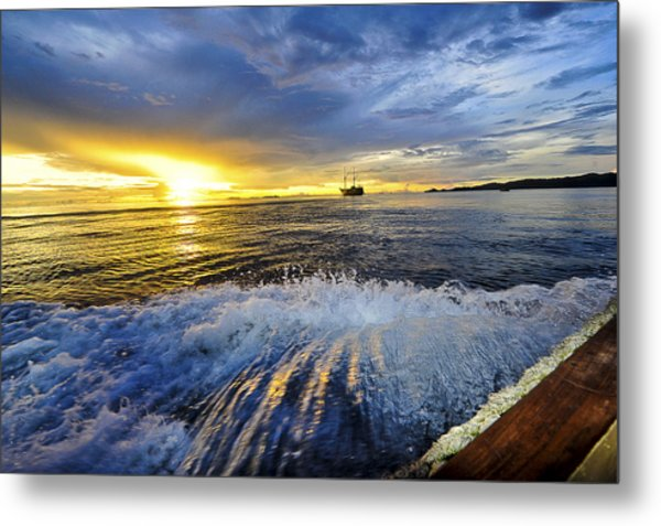 Back To The Boat Metal Print