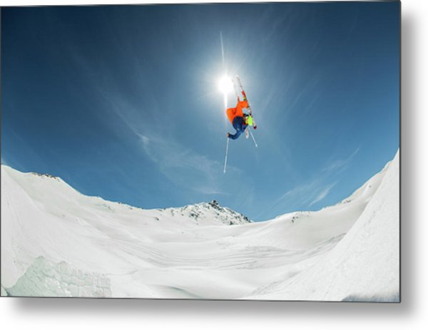 Backcountry Kicker Locals Only Metal Print