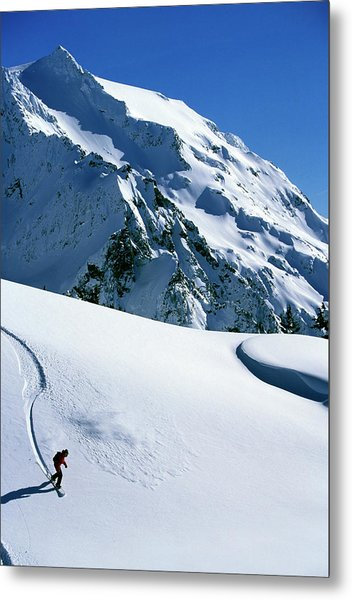 Backcountry Snowboarding Near Mt Metal Print