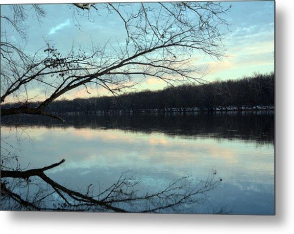 Backlit Skies On The Potomac River Metal Print by Bill Helman