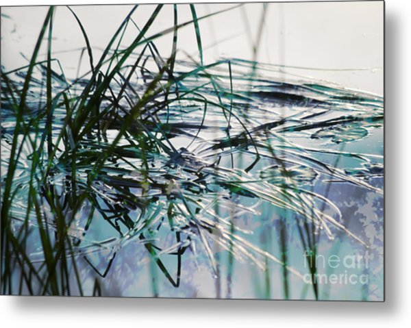 Backwater In Blues Metal Print
