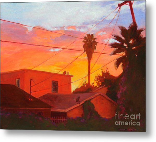 backyard in East LA Metal Print