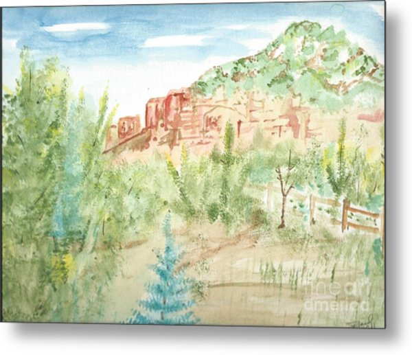 Backyard Sedona Metal Print