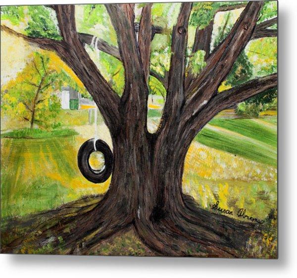 Backyard Tree Memories Metal Print