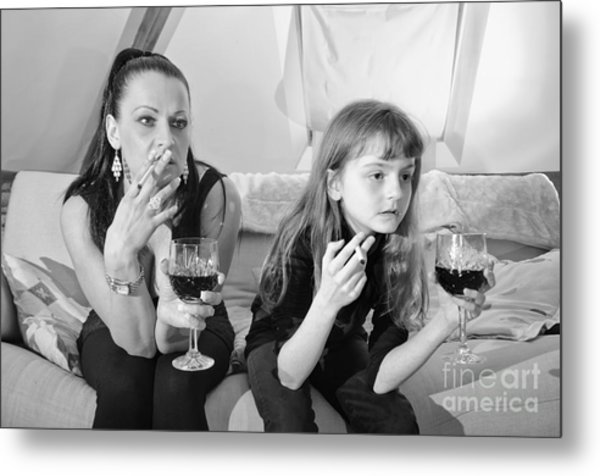 Bad Girls Metal Print