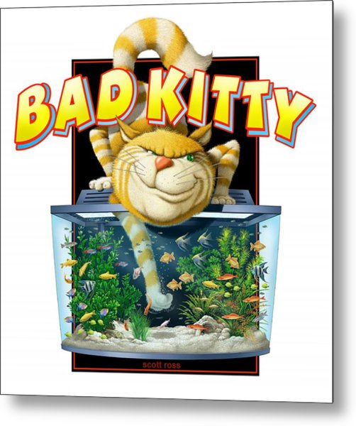 Bad Kitty Metal Print
