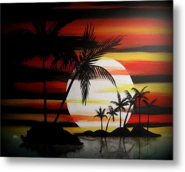 Bad Sunfire Metal Print