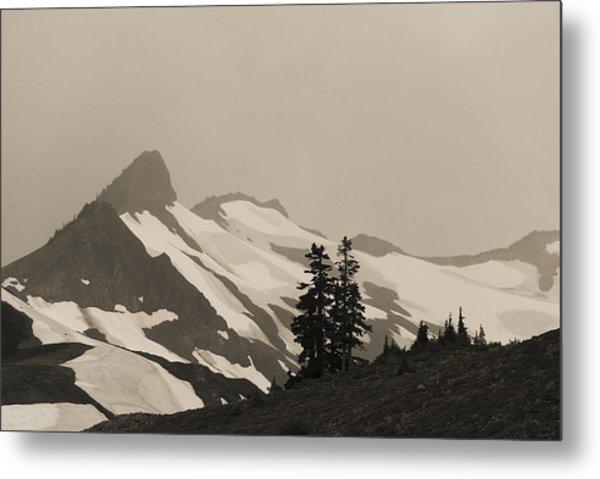 Fog In Mountains Metal Print