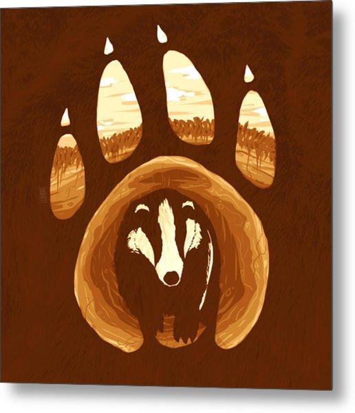 Badger Paw Metal Print