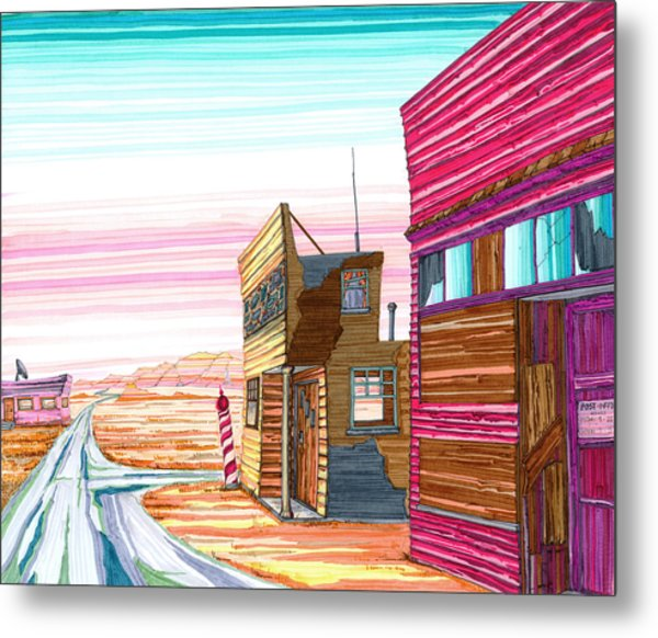Badlands Barbershop Metal Print
