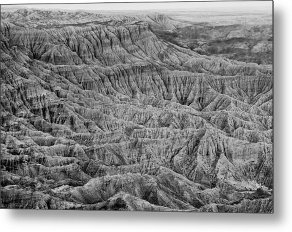 Badlands Of Great American Southwest - 3 Metal Print