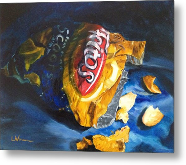 Bag Of Chips Metal Print