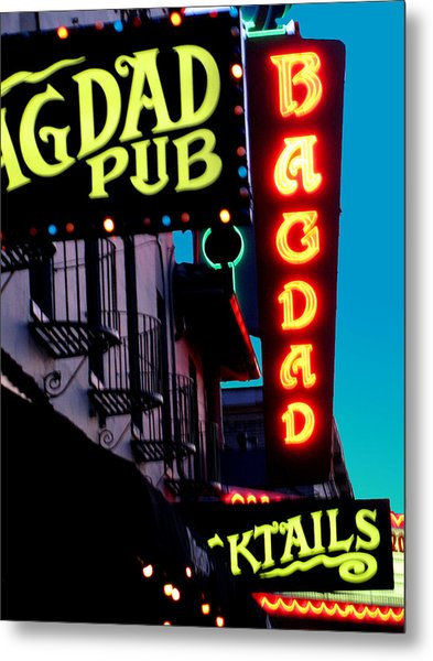 Bagdad Pub Metal Print by Gail Lawnicki