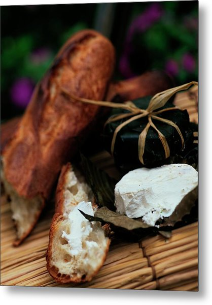Baguettes And Banon Cheese Metal Print