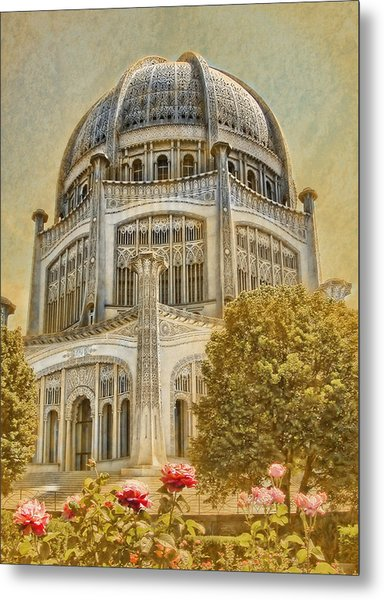 Baha'i  Temple In Wilmette Metal Print