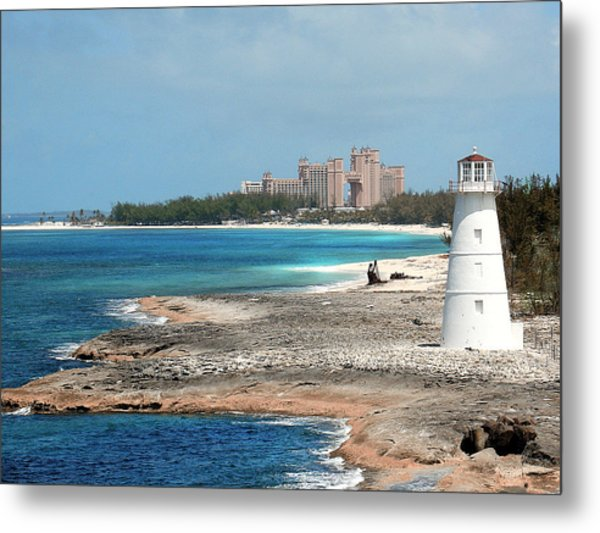 Bahamas Lighthouse Metal Print