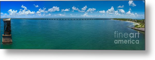Bahia Honda Bridge Panorama Metal Print