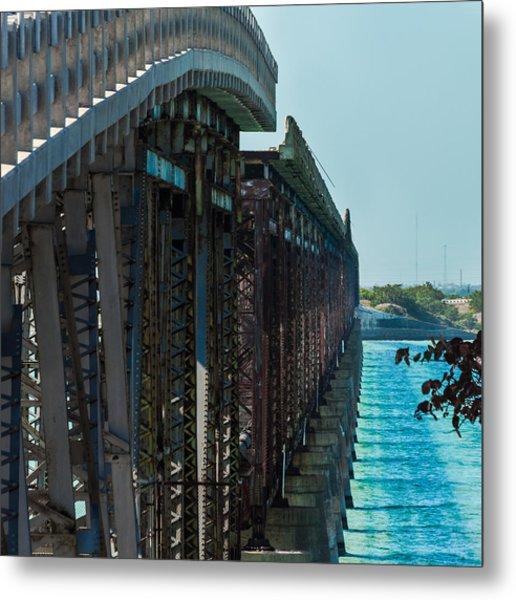 Metal Print featuring the photograph Bahia Honda Bridge Patterns by Ed Gleichman