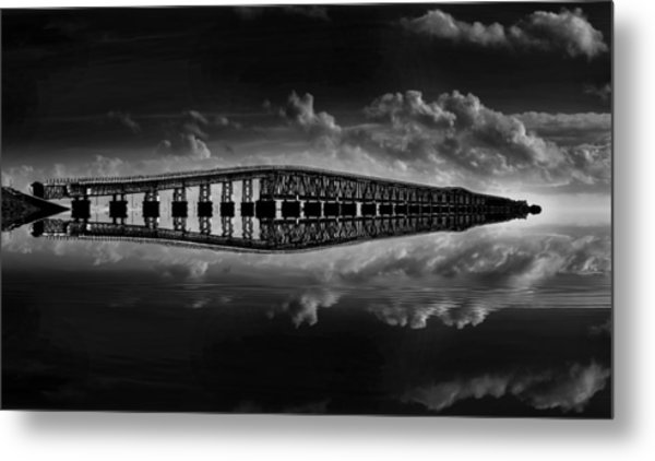 Bahia Honda Bridge Reflection Metal Print