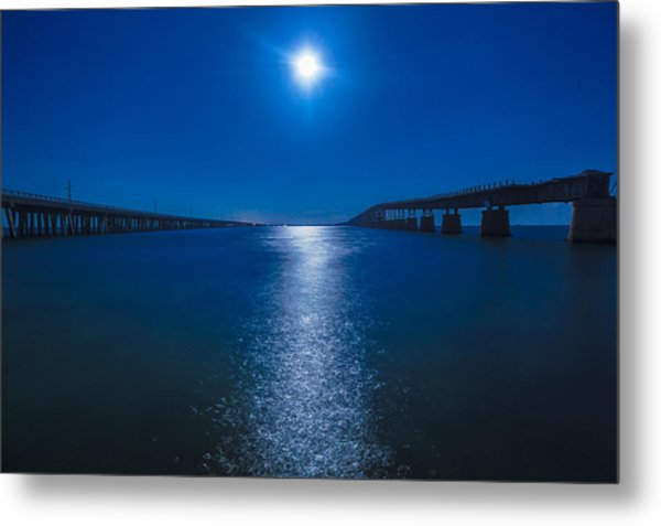 Bahia Moonrise Metal Print by Dan Vidal