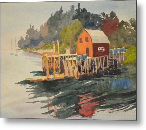 Bailey Island Metal Print by Peggy Poppe