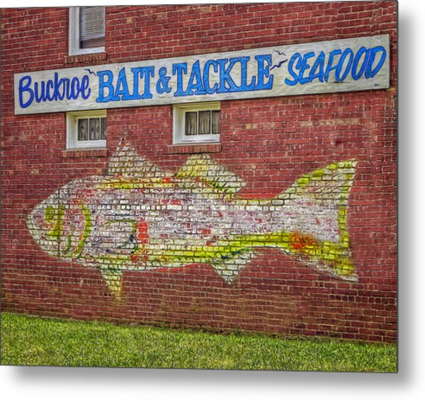 Bait Tackle Seafood Shop Detail Metal Print