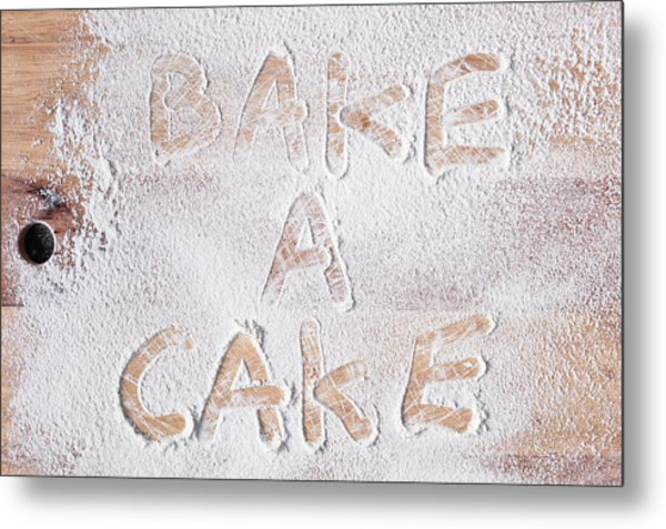 Bake A Cake Metal Print