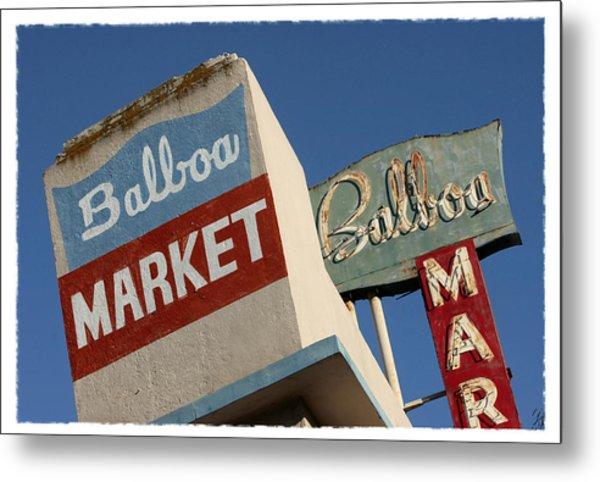 Balboa Market Metal Print
