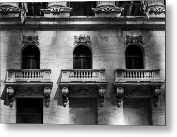 Balconies At Nyse  Metal Print