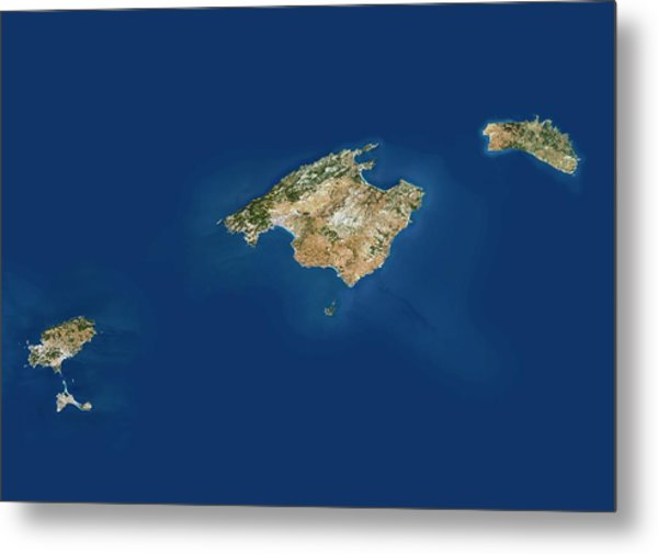 Balearic Islands Metal Print by Planetobserver/science Photo Library