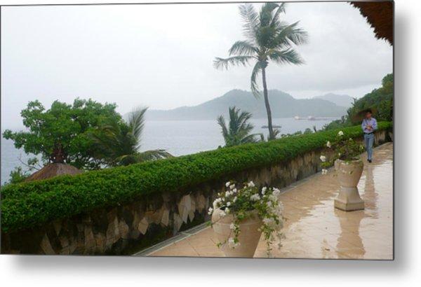 Bali In Th Rain Metal Print by Jack Edson Adams