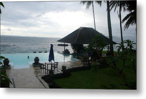 Bali Pool By The Ocean Metal Print by Jack Edson Adams