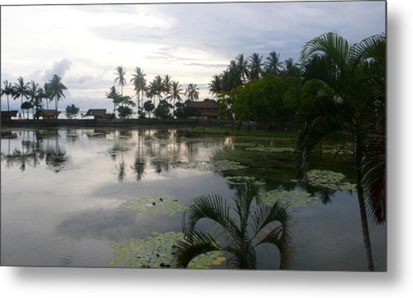 Bali Reflections In The Bay Metal Print by Jack Adams