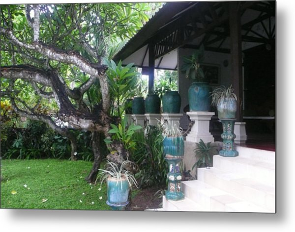 Bali Villa Metal Print by Jack Adams