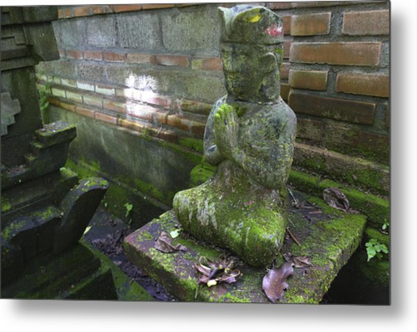 Balinese Praying Figure Metal Print