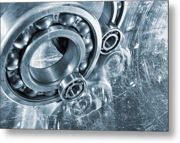 Ball Bearings And Engineering Metal Print