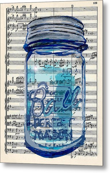 Ball Jar Classical  #129 Metal Print