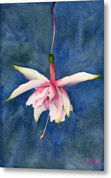 Metal Print featuring the painting Ballerina Flower by Ken Powers